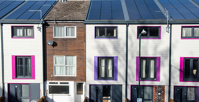 ▲ 영국 노팅엄의 주택주택. 주택개조를 거친 주택의 CO2 배출이 86% 감소했다 ⓒ Balkan Green Energy News