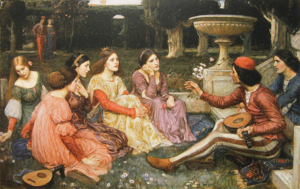 "▲ John William Waterhouse ""A Tale from Decameron""(1916). ⓒLady Lever Art Gallery"
